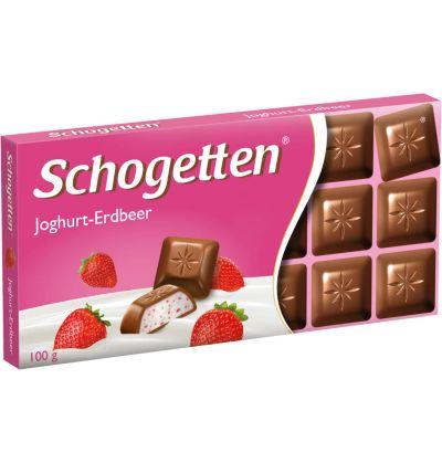 Bild av Schogetten Chocolate yoghurt-strawberry 100g