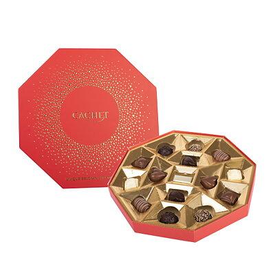 Bild av Chokladask Oktagon med guldprickar i relief från Cachet