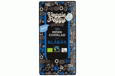 Bild av Veggie Peggy Mörk Choklad - Blåbär 85g