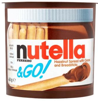 Bild av Nutella & Go Hazelnut Spread with Cocoa and Breadsticks 48g