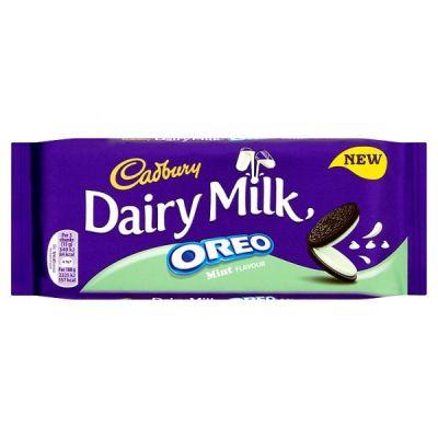 Bild av Cadbury Dairy Milk Oreo Mint Chocolate Bar 120g
