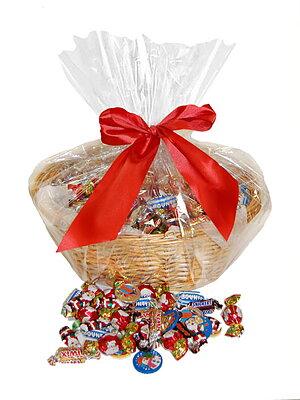 Bild av CHOKLADBUDET - Härlig julkorg med 5 kg choklad