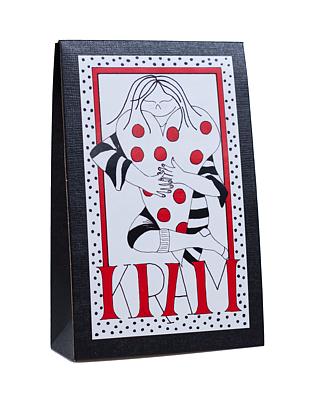 Bild av Presentask med choklad 'Kram' - Röd