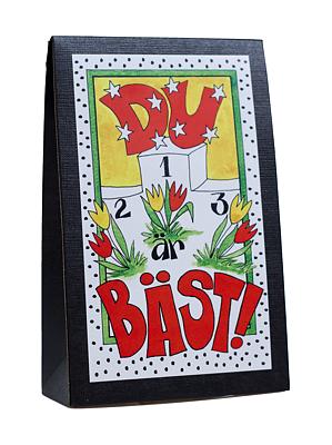 Bild av Presentask med choklad 'Du Är Bäst'