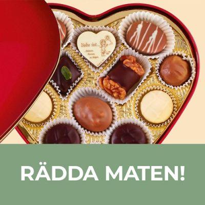 Bild av Choklad i hjärtformad ask - Lauenstein, Röd