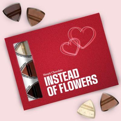 Bild av Chokladask - Instead of flowers, Rosa