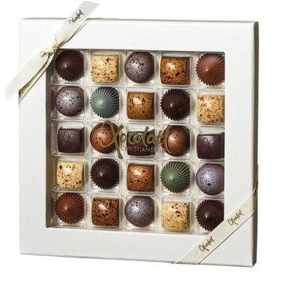 Bild av Chokladask med 25 praliner – Xocolatl, Vit / Transparent