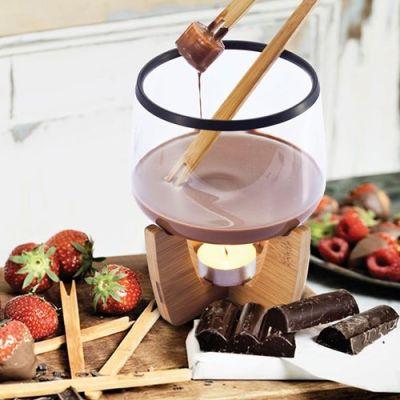Bild av Chokladfondue set, Glas