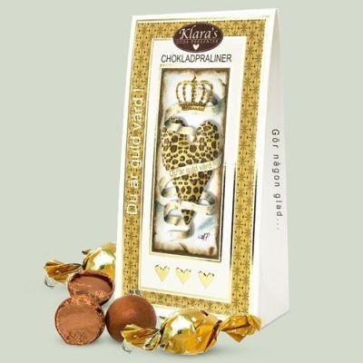 Bild av Chokladpraliner - Du är guld värd
