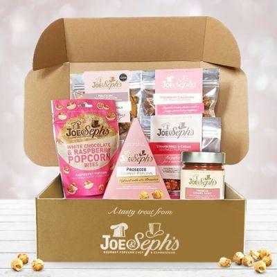 Bild av Presentlåda med popcorn - Joe & Seph's, Beige