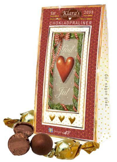 Bild av God Jul chokladpraliner, Hjärtanmotiv
