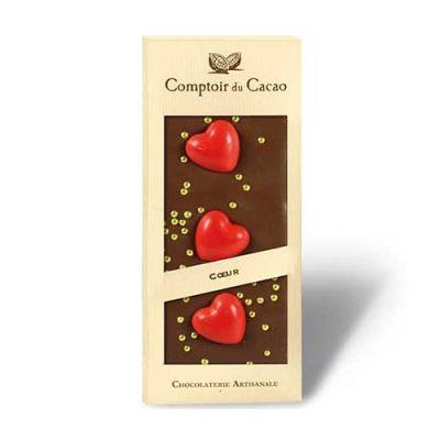 Bild av Ljus Chokladkaka med hjärtan