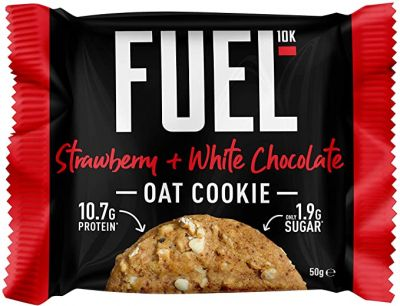 Bild av Fuel10k Strawberry and White Chocolate Oat Cookie 50g