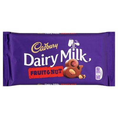 Bild av Cadbury Dairy Milk Fruit & Nut Chocolate Bar 95g
