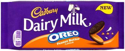 Bild av Cadbury Dairy Milk Oreo Peanut Butter Chocolate Bar 120g