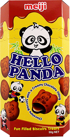 Bild av Meiji Hello Panda Double Choco 50gram