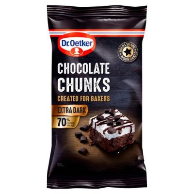 Bild av Dr. Oetker Extra Dark Chocolate Chunks 100g