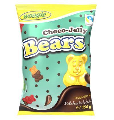 Bild av Woogie Choco Jelly Bears 150g