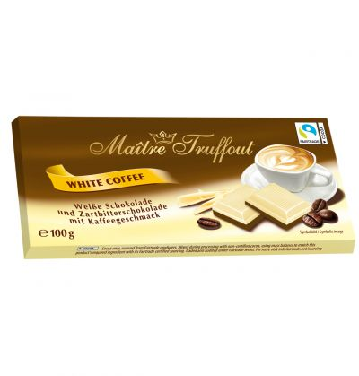Bild av Maitre Truffout White Coffee chocolate 100g