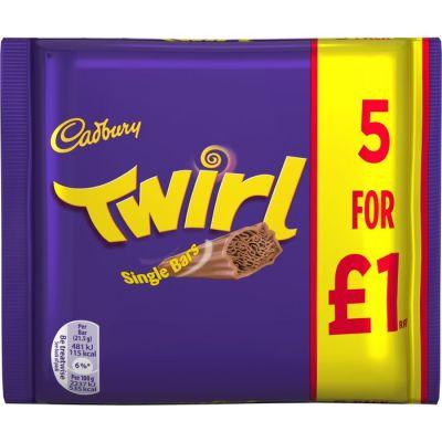 Bild av Cadbury Twirl 5-pack 100g