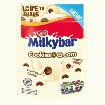 Bild av Nestle Milkybar Cookie & Cream Bites 90g