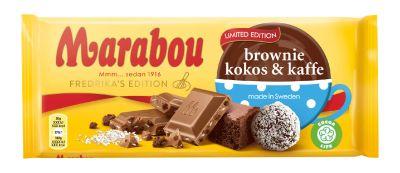 Bild av Marabou Brownie, Kokos & Kaffe 185g