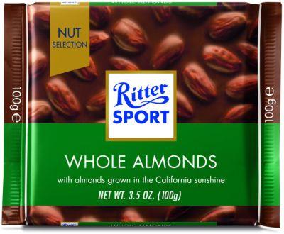 Bild av Ritter Sport Whole Almonds 100g