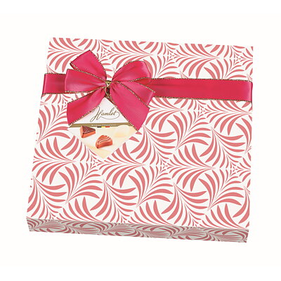 Bild av CHOKLADBUDET - Inslagen presentask med goda belgiska praliner, rosa