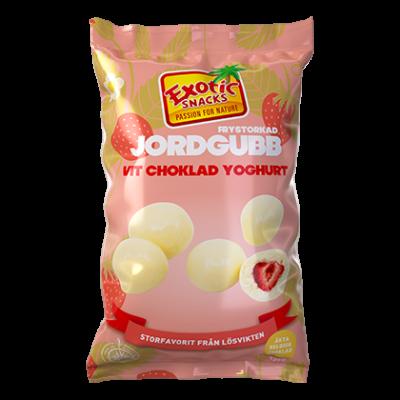 Bild av Exotic Snacks Frystorkad Jordgubb Vit Choklad Yoghurt 145g
