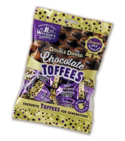 Bild av Walkers Double Dipped Chocolate Toffees 135g