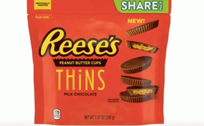 Bild av Reeses Peanut Butter Cups Thins Milk Chocolate 209g