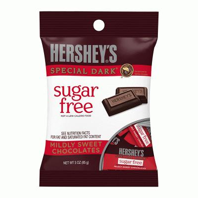 Bild av Hersheys Sugar Free Dark Chocolates 85g