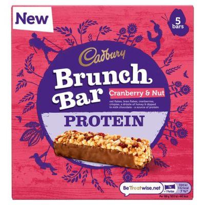 Bild av Cadbury Brunch Bar Cranberry & Nut Protein 5-pack