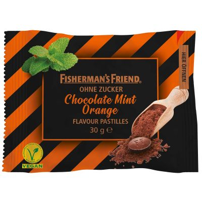 Bild av Fishermans Friend Chocolate Mint Orange 25g