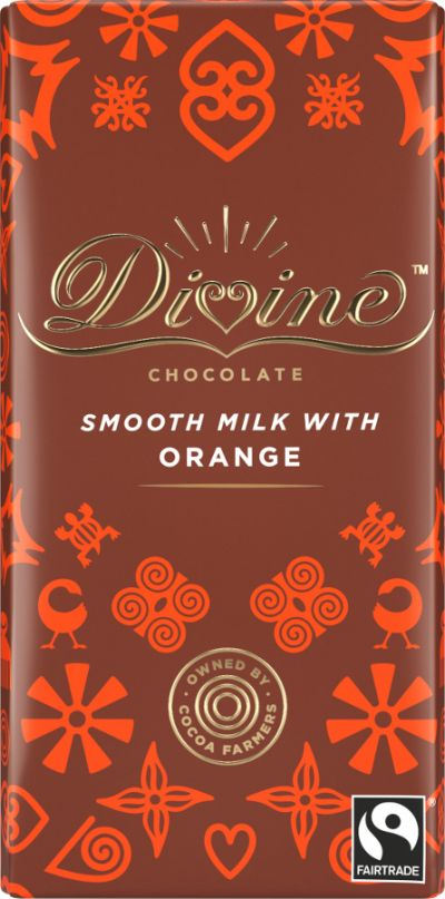 Bild av Divine Chocolate Milk Chocolate & Orange 90g