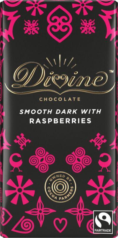 Bild av Divine Chocolate Dark Chocolate & Raspberry 90g