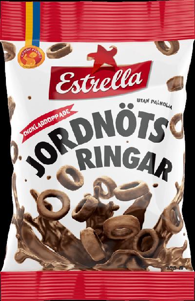 Bild av Estrella Chokladdoppade Jordnötsringar 100g