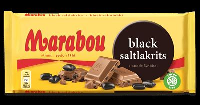 Bild av Marabou Black Saltlakrits 100g