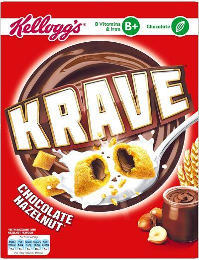 Bild av Kelloggs Krave Chocolate & Hazelnut 375g