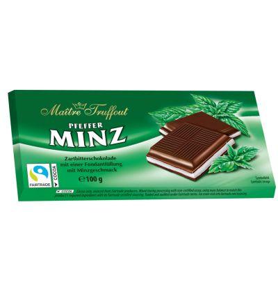 Bild av Maitre Truffout Mörk choklad m. Pepparmintkräm 100g