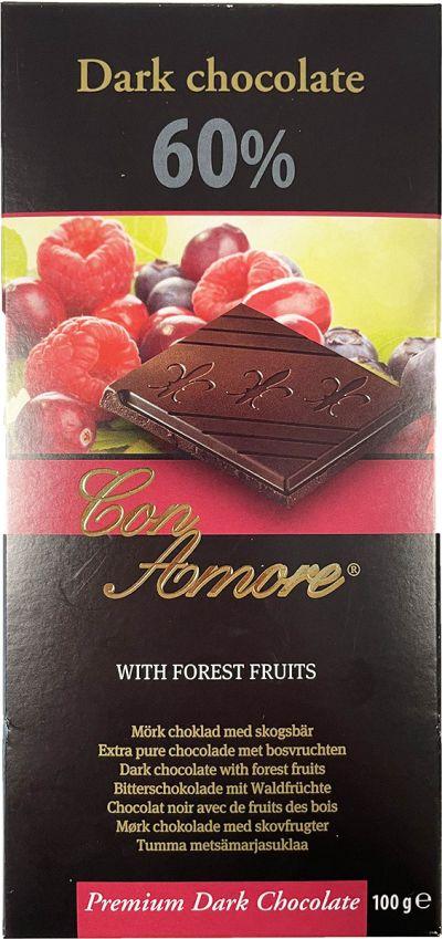 Bild av Con Amore Dark Chocolate Forest Fruits 100g