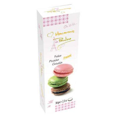 Bild av Pauline Macarons Presentask 3-Pack - Choklad, Jordgubb & Pistage 3-Pack
