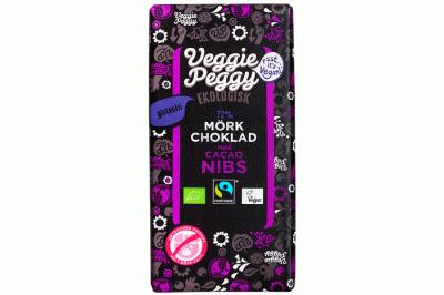 Bild av Veggie Peggy Mörk Choklad - Cacaoc Nibs 85g