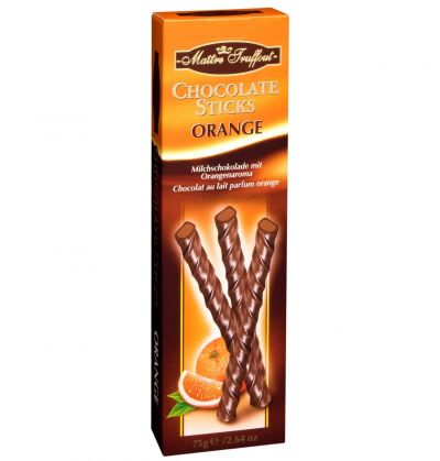 Bild av Maitre Truffout - Chocolate Sticks Orange 75g