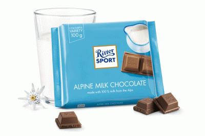 Bild av Ritter Sport Alpine Mjölkchoklad 100g