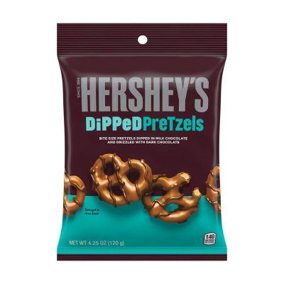 Bild av Hersheys Milk Chocolate Dipped Pretzels 120g