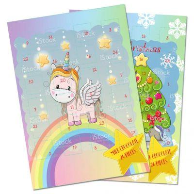 Bild av Choklad Adventskalender Unicorn 75g