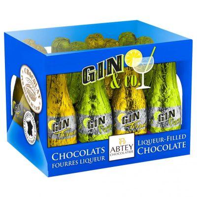 Bild av Casier Spritfyllda Chokladflaskor - Gin 108g
