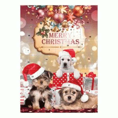 Bild av Adventskalender Choklad Hund 75g