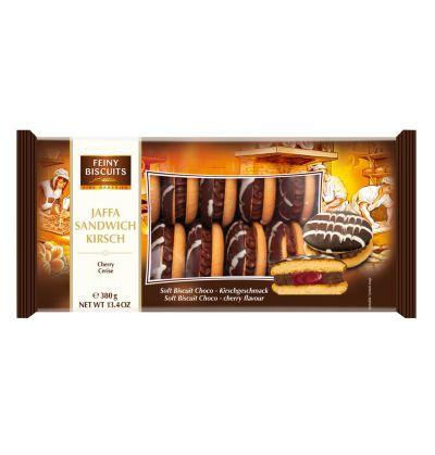Bild av Feiny Biscuits Jaffa Sandwich chocolate cream-cherry 380g